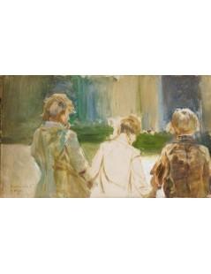 Tytuł: Studium trzech młodych chłopców, Autor: Jacek Malczewski
