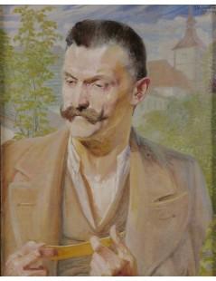 Tytuł: Szkic do portretu mężczyzny, Autor: Jacek Malczewski