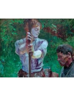 Tytuł: U studni, Autor: Jacek Malczewski