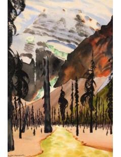 Tytuł: Krajobraz górski, Autor: Rafał Malczewski