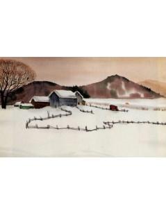 Tytuł: Krajobraz zimowy, Autor: Rafał Malczewski
