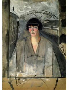 Tytuł: Portret kobiety na tle mostu, Autor: Rafał Malczewski