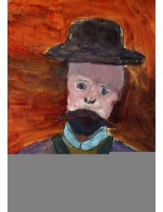Tytuł: Portret mężczyzny w kapeluszu (portret ojca), Autor: Rafał Malczewski