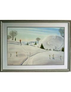 Tytuł: Zima w Laurentians, Autor: Rafał Malczewski