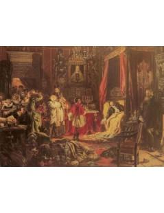 Tytuł: Śmierć Zygmunta Augusta w Knyszynie, Autor: Jan Matejko