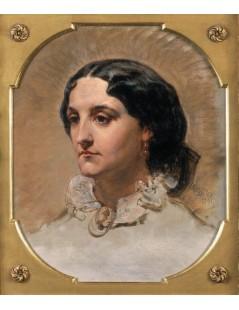 Tytuł: Portret panny Dybowskiej, Autor: Jan Matejko