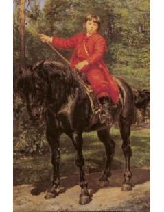 Tytuł: Portret syna Jerzego na koniu, Autor: Jan Matejko