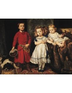 Tytuł: Portret trojga dzieci artysty, Autor: Jan Matejko