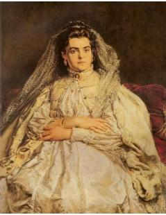 Tytuł: Portret żony w ślubnej sukni, Autor: Jan Matejko