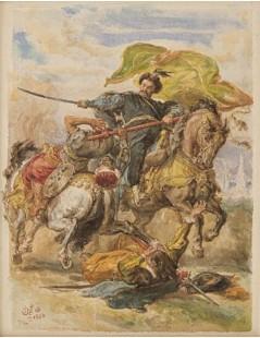 Tytuł: Sobieski zdobywa chorągiew, Autor: Jan Matejko