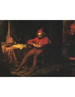 Tytuł: Stańczyk w czasie balu na dworze królowej Bony wobec straconeg, Autor: Jan Matejko