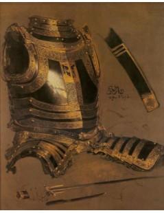 Tytuł: Zbroja Stefana Batorego, Autor: Jan Matejko
