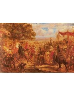 Tytuł: Zjazd królów Jagiellonów z cesarzem Maksymilianem pod Wiednie, Autor: Jan Matejko