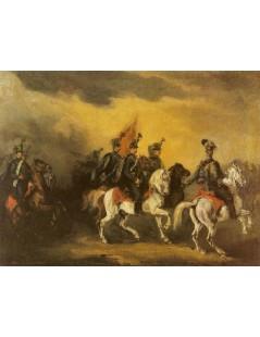 Tytuł: Niebiescy husarzy, Autor: Piotr Michałowski