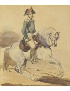 Tytuł: Oficer na siwym koniu, Autor: Piotr Michałowski