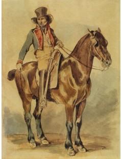 Tytuł: Pocztylion na koniu, Autor: Piotr Michałowski