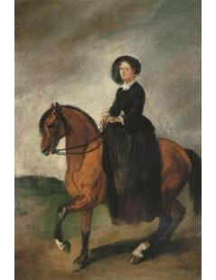 Tytuł: Portret córki artysty Celiny na koniu, Autor: Piotr Michałowski