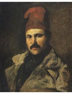 Tytuł: Portret Maksymiliana Oborskiego w fezie, Autor: Piotr Michałowski