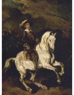 Tytuł: Rajtar na koniu, Autor: Piotr Michałowski