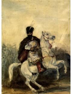 Tytuł: Stefan Czarnecki na koniu, Autor: Piotr Michałowski