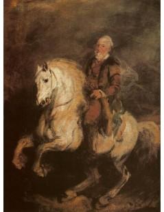 Tytuł: Stefan Czarniecki na koniu, Autor: Piotr Michałowski