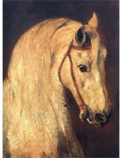 Tytuł: Studium głowy końskiej, Autor: Piotr Michałowski