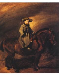 Tytuł: Syn artysty na koniu.jpg, Autor: Piotr Michałowski