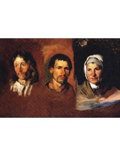 Tytuł: Trzy głowy chłopskie, Autor: Piotr Michałowski