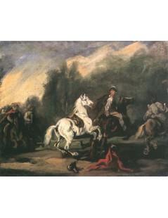 Tytuł: Upadek z konia, Autor: Piotr Michałowski
