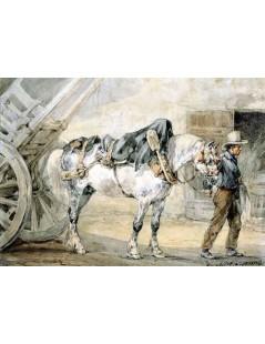 Tytuł: Woźnica z koniem, Autor: Piotr Michałowski