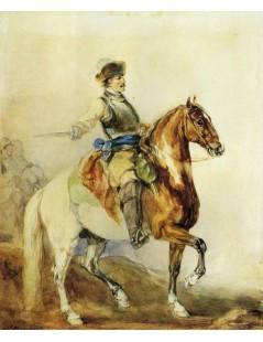 Tytuł: Żołnierz na koniu, Autor: Piotr Michałowski