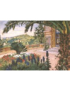 Tytuł: Ogród willi nad morzem, Autor: Józef Mehoffer