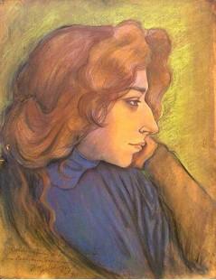Tytuł: Portret Ireny Solskiej, Autor: Józef Mehoffer
