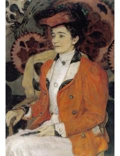 Tytuł: Portret Izy z Giełgudów Axentwiczowej, Autor: Józef Mehoffer