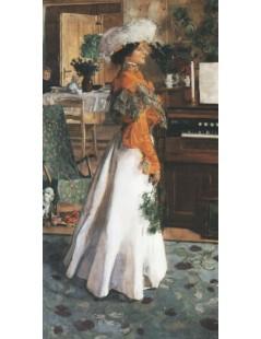 Tytuł: Portret żony artysty, Autor: Józef Mehoffer