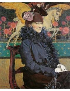 Tytuł: Portret żony artysty z Pegazem, Autor: Józef Mehoffer
