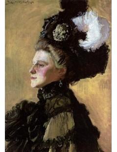 Tytuł: Portret żony na żółtym tle, Autor: Józef Mehoffer