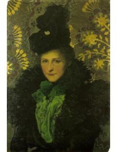 Tytuł: Portret żony, tzw. florencki, Autor: Józef Mehoffer