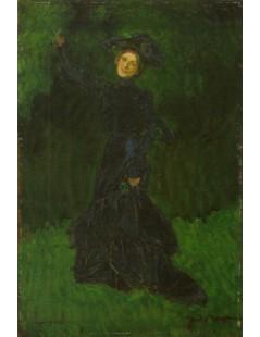 Tytuł: Studium postaci kobiecej do obrazu Dziwny ogród, Autor: Józef Mehoffer