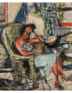 Tytuł: Dziewczyna z mandoliną, Autor: Zygmunt Menkes