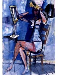 Tytuł: Kobieta przed lustrem, Autor: Zygmunt Menkes