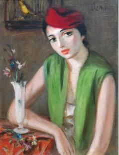 Tytuł: Kobieta w czerwonym kapeluszu, Autor: Zygmunt Menkes