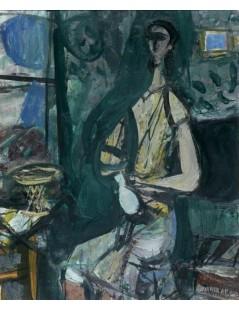 Tytuł: Kobieta w pokoju, Autor: Zygmunt Menkes
