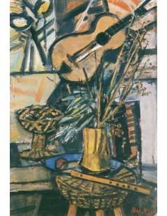 Tytuł: Martwa natura z gitarą, Autor: Zygmunt Menkes