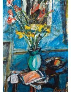 Tytuł: Martwa natura z kwiatami, Autor: Zygmunt Menkes