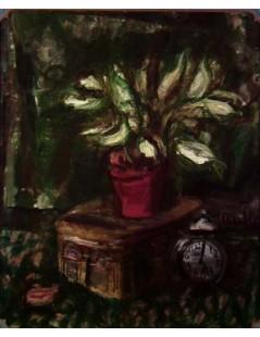 Tytuł: Martwa natura z zielonymi kwiatami, Autor: Zygmunt Menkes