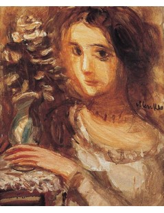 Tytuł: Portret dziewczyny z kwiatami, Autor: Zygmunt Menkes