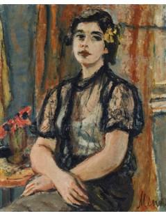 Tytuł: Portret dziewczyny, Autor: Zygmunt Menkes