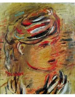 Tytuł: Portret kobiety w zawoju, Autor: Zygmunt Menkes