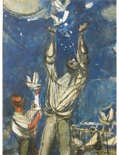 Tytuł: Wypuszczanie gołębi, Autor: Zygmunt Menkes